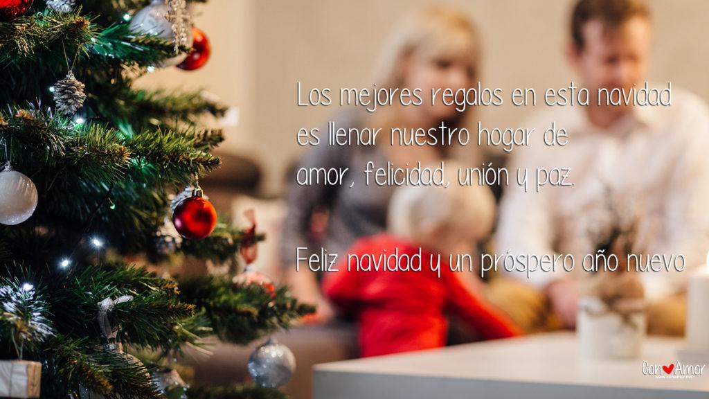Los mejores regalos en esta navidad es llenar nuestro hogar de  amor, felicidad, unión y paz.